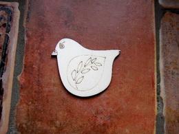 2D výøez ptáèek s vìtvièkou -v.6,5x7,2cm - zvìtšit obrázek