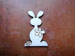 2D výřez zajíc s kytičkou-v.7x4,5cm - zvětšit obrázek