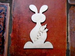 2D výøez zajíc s mrkví-v.11,1x7,4cm - zvìtšit obrázek