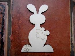 2D výřez zajíc s kytičkou-v.11,1x7,4cm - zvětšit obrázek