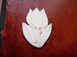 2D výøez tulipán stonkem v.6,5x4,9cm