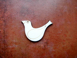 2D výøez ptáèek èistý è.2- cca v.3,4x4,8cm - zvìtšit obrázek