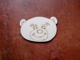 2D výøez na špejli medvídek-v.3,7x5,6cm