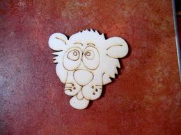 2D výøez na špejli lvice-v.5,5x5,4cm
