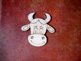 2D výøez na špejli kravièka è.1-v.4,9x4,8cm