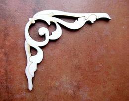 2D výøez ornament - v.6,8x7,5cm