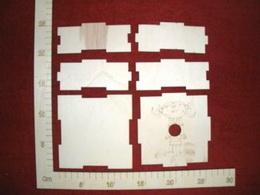 Krabièka støední motiv holka 12x12x4,5cm