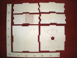 Krabièka velká motiv holka  16x16x4,5cm