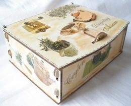 Dárková krabièka na èaj - 6 pøihrádek