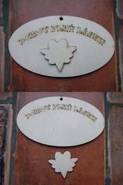 Cedulka Domov plný lásky+výøez 14x8cm