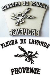 Razítko pøekližka Provence- fleurs de.... v.7,4x10,8cm