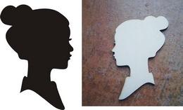 Razítko pøekližka hlava ženy v. 11x7,5cm