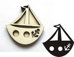 Razítko pøekližka lodièka 5,7x5,5cm