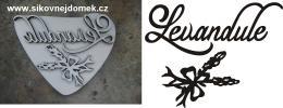 Razítko pøekližka Levnadule ozd.+levandule-  v.7,5x9,4cm - zvìtšit obrázek