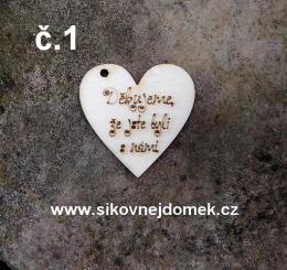 2D výøez srdce Dìkujeme... vel. 3,5x3,5cm -è.1 - zvìtšit obrázek