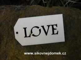Jmenovka proř.LOVE -7x4cm - zvětšit obrázek