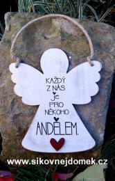 Anděl - Každý z nás - 20x20cm - zvětšit obrázek