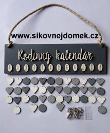 Sestava s nápisem Rodinný kalendáø šedá - zvìtšit obrázek