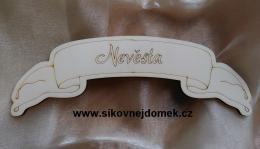 Svatební jmenovka na stůl Nevěsta 9x25cm - zvětšit obrázek