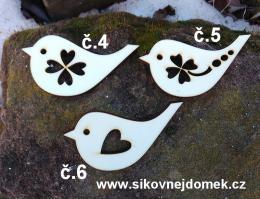 2D výøez ptáèek L -v.7,5x4cm -èíslo 4