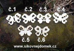2d výøez motýl síla 4mm- 6,5x4,8cm -è.6