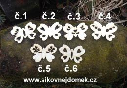 2d výøez motýl síla 4mm- 6,5x4,8cm -è.4