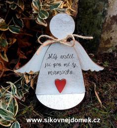 3D anděl Můj anděl č.2+podložka...  v.14x17cm - zvětšit obrázek