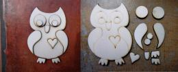 3D sova č.2 skládačka - v. 7x5cm - zvětšit obrázek