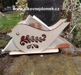 Stojánek na ubrousky ptáček č.7 -17x9,3cm - zvětšit obrázek