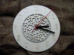 3D hodiny kulaté s kytièkovým vzorem pr. 25cm