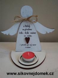 3D anděl Nikdy.... +čaj.svíčka - zvětšit obrázek