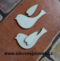 2D výøez ptáèek s køidélkem- v.5,4x9cm - zvìtšit obrázek