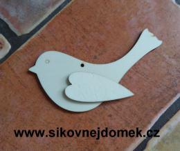 2D výøez ptáèek s køidélkem- v.7,6x13cm