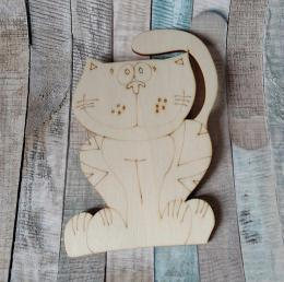 TP2D014- 2D výřez kočka sedící 12,5x8cm - zvětšit obrázek
