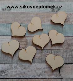 2D výøez srdce prdelka v.4,5x5cm-cena za ks
