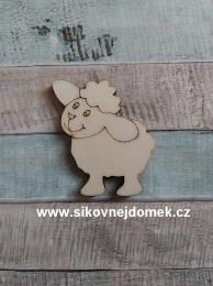Výøez oveèka è.1 - 5x5,5cm-síla mat.0,4cm