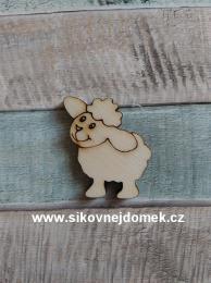 Výøez oveèka è.1 - 3x2,6cm-síla mat.0,4cm