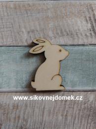 Výøez zajíc - 3x2,6cm - síla mat.0,4cm