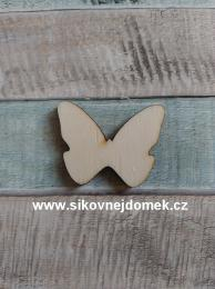 Výøez motýlek è.1 - 2,6x3,3cm - síla mat.0,4cm