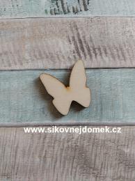 Výøez motýlek è.2 - 3x3cm - síla mat.0,4cm - zvìtšit obrázek