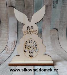 2D výøez zajíc è.1 na podložce-10,4x7,5cm, síla mat.0,4cm - zvìtšit obrázek