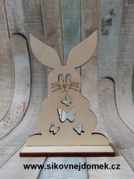 2D výřez zajíc č.2 na podložce-10,4x7,5cm, síla mat.0,4cm - zvětšit obrázek
