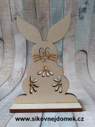 2D výøez zajíc è.3 na podložce-10,4x7,5cm, síla mat.0,4cm - zvìtšit obrázek