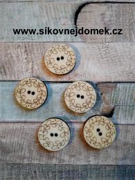 2D výøez - knoflíèek kulatý ornament-pr.2,2cm-cena za ks - zvìtšit obrázek