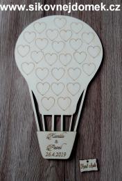 Svatební balón grav.srdíèka - 34x21cm - zvìtšit obrázek