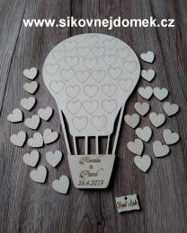 Svatební balón +26srdíèek - 34x21cm - zvìtšit obrázek