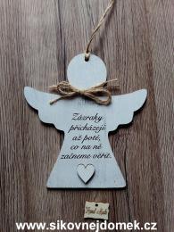 2D anděl n.t.  Zázraky přicházejí -17x16cm - zvětšit obrázek