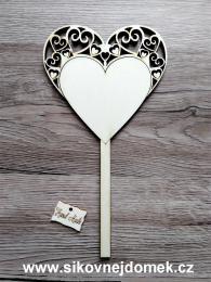 2D výøez svatební zápich srdce èisté - zvìtšit obrázek