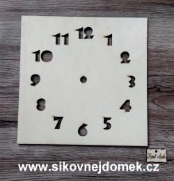 2D hodiny ètverec 19,5x19,5cm bez HOD.STROJKU - zvìtšit obrázek