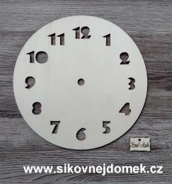 2D hodiny fotbalový míè 19,5cm-BEZ HOD.STROJKU